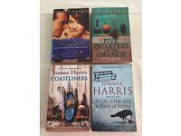 4 Joanne Harris Paperback Books, inc Chocolat, Coastliners, Five Quarters of the Orange,