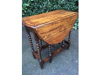 Solid oak antique gate leg table possible delivery