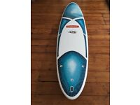 """Bic Surfboard 7ft6"""" with fins and leash"""