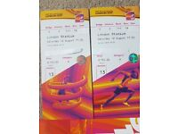 2 x IAAF 2017 World Championships ( Final chance to see BOLT and MO FARAH race ) Sat 12th Aug