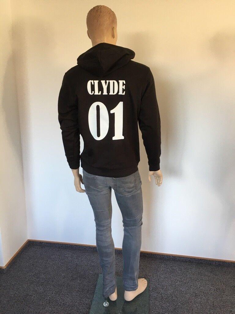 Sweatshirt Hoodie BONNIE & CLYDE für Pärchen *Liebe*Love*Couple*Paar*