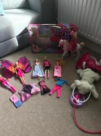 Barbie Train & Ride Horse and Bundle