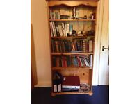 Solid pine bookcase in good condition