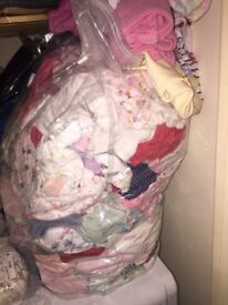 Huge bags of baby girl clothes and shoes, excellent condition or new with tags! 0-3 and 3-6 months