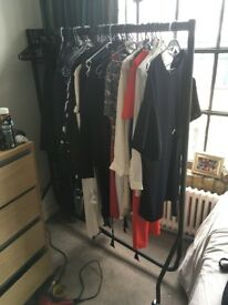 Black Clothes Rail (John Lewis), very good condition