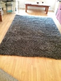 Charcoal/grey shaggy pile rug (originally from Dunelm Mill)
