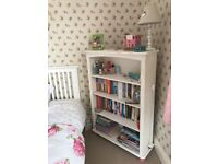 Wardrobe, chest of draws & bookshelf