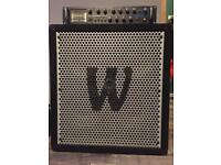 Warwick X-treme 1000 Watts bass head and WCA 411 ND 800 Watts cab.