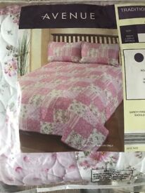 Beautiful brand new king size quilt & cushion covers