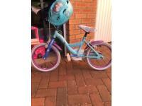 16 inch frozen bike and matching helmet