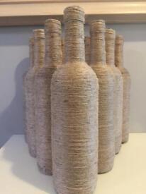 Twined wine bottles