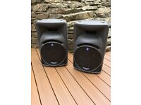 Mackie 450 SRM X 2 Speakers plus Bags for Sale,