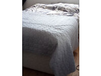 Double bed with storage & mattress
