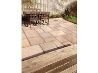 Marketstone patio slabs autumn multi