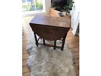 Beautiful vintage fold down dining table
