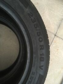 2x Continental Contisport Contact5 tyres 235 50 R18 excellent condition