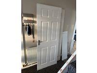 Internal white door with chrome handles
