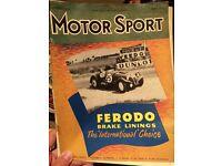 MOtorsport magazines 1952-1959 (34 copies)