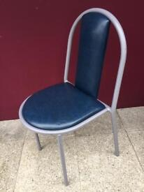 Steel stacking canteen chair