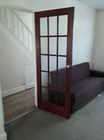 2 internal doors with glass panels
