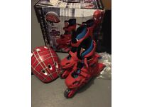 SPIDER MAN 3 SKATE SET - HELMET AND SKATES