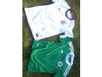 Collection of football shirts aged 10-12yrs