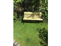 Garden bench, excellent new condition, Lemon and black, thank you for looking