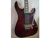 Schecter Omen Extreme 6 FR Electric Guitar Floyd Rose in Black Cherry + Tweed Case