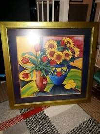 Beautiful sun flower print