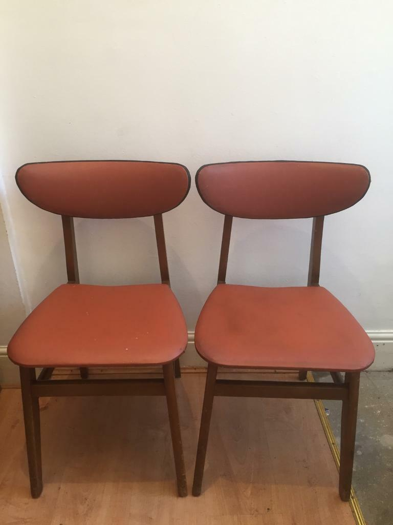 Set of 4 1960s Vintage, Retro - dining chairs £60 Ono