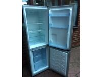 BRUSH SILVER STAINLESS STEEL LOGIK FRIDGE FREEZER IN GOOD WORKING CONDITION