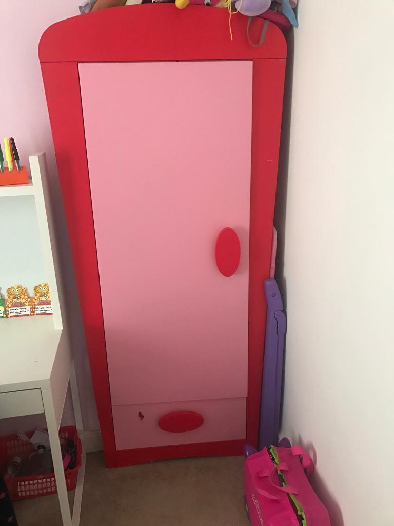 Pink Ikea Girls Wardrobe In Stoke On Trent