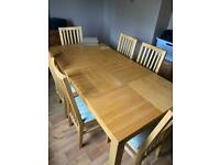 Dining table and 6 chairs £50 ono