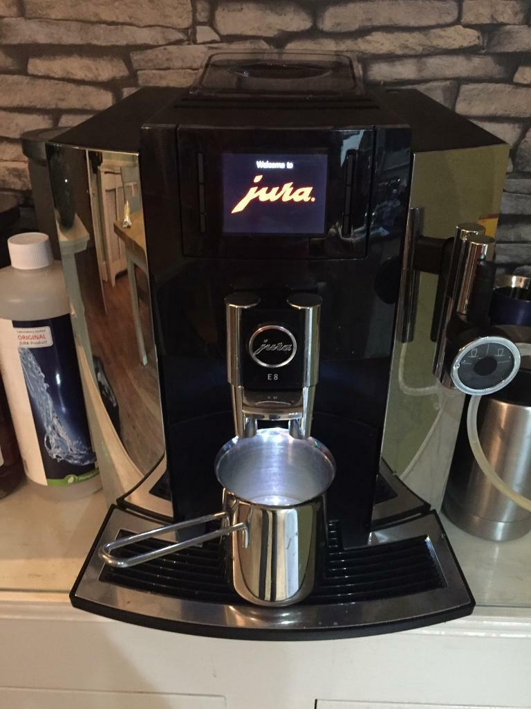 jura e8 coffee machine in chrome in southampton hampshire gumtree. Black Bedroom Furniture Sets. Home Design Ideas