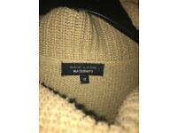 Maternity cowl neck poncho size 12 £4