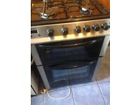 Black gas cooker 60cm... Mint free Delivery