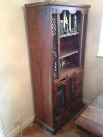 Tall Dresser Wall Unit Solid Rosewood
