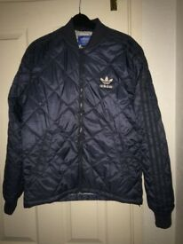 Adidas quilted bomber style jacket