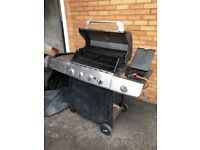 Large gas BBQ with full gas bottle