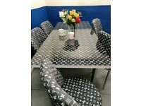 😍😍MODERN DESIGNED EXTENDABLE DINING TABLE AND 6 CHAIRS WITH DELIVERY OPTIONS