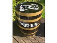 Bushmills whiskey barrel with whiskey