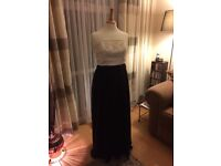 Black and cream evening dress size 14 by Together