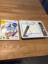 Nintendo u draw studio tablet and game