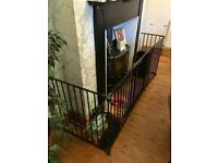 Fire Surround / Guard - Black - Premium - 190cm x 60cm