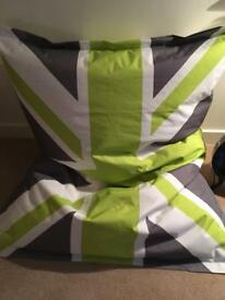 Giant Union Jack beanbag