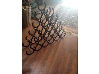 21 bottle horseshoe wine rack