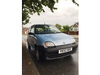 Fiat Scicento S 1.1 2002 52 Petrol Sunroof Economical *NEW MOT* Low Miles PX or EXCHANGE