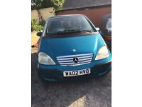 merc A140,petrol,5door,5speed manual,pacific blue,MOT jan 2019,84000 miles,fsh,4owners,excellent,