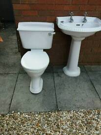 REDUCED! Bathroom furniture, Heritage Jacuzzi bath, toilet and matching sink