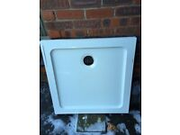 Quality White Shower tray (heavy stone construction)